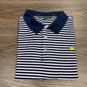 Masters Collection Navy & White Stripe Polo Shirt